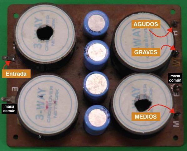 Filtro pasivo de 3 vias - reducido