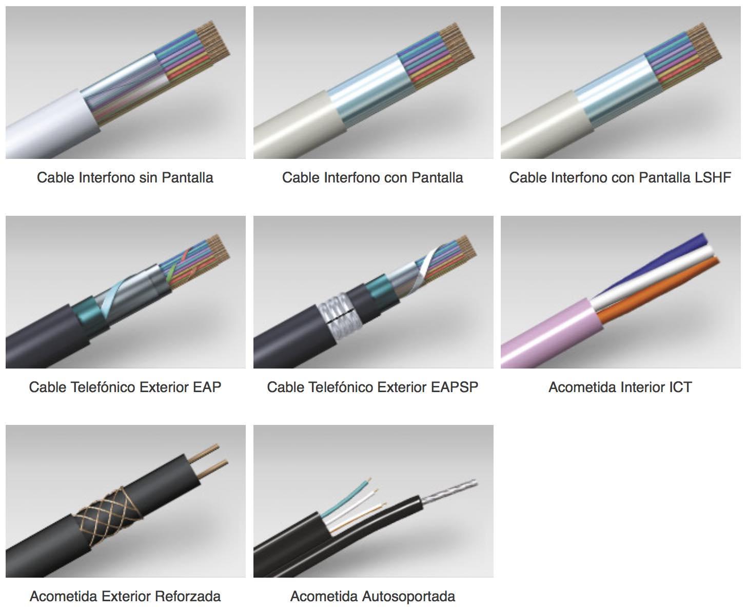 Tipos de cables multipar - EL CAJÓN DEL ELECTRÓNICO