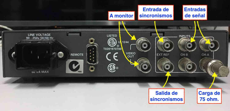 Conexiones de un vectorscopio Tektronix WVR 500 - EL CAJÓN DEL ELECTRÓNICO
